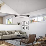 Harchee Modern LED Ring Chandelier Acrylic Round