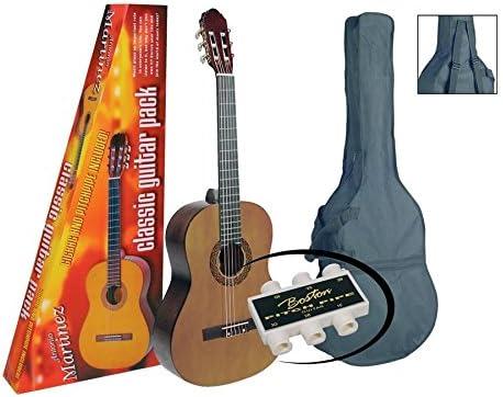 Guitarra Classic A. Martinez Natural Finish 4/4 con bolsa y corista ...