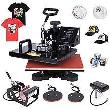 "Ambienceo Digital Heat Press Machine Transfer Printer Sublimation T-Shirt Mug Plate Hat 12"" X 15"" (5 IN 1)"