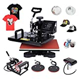 Ambienceo Digital Heat Press Machine Transfer Printer Sublimation T-Shirt Mug Plate Hat 12'' X 15'' (5 IN 1)