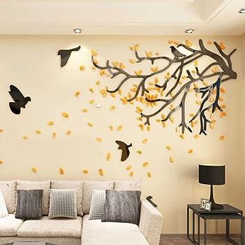 JWQT 3D stéréoscopique arbre mural salon canapé plat chaud fond ...