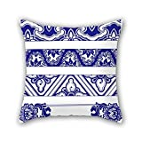 Chinese Style Blue And White Porcelain Throw Cushion Covers 20 X 20 Inches / 50 By 50 Cm Gift Or Decor For Boys Shop Deck Chair Home Office Office Lover - Both Sides