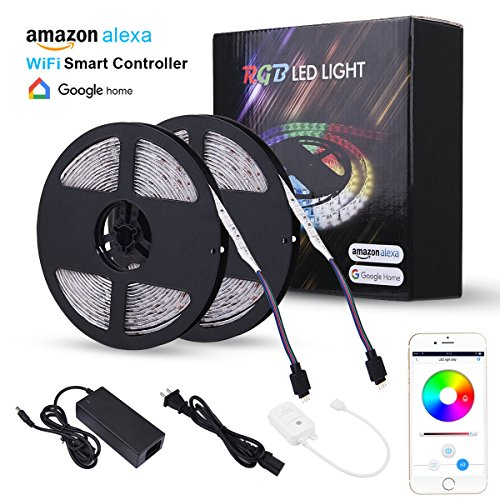 LED Strip Lights, Wricbo 32.8ft WiFi Rope Lights LED Waterproof RGB Colorful, Smart Phone Control Support...
