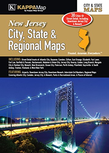 New Map State Jersey (New Jersey City, State, & Regional Maps)