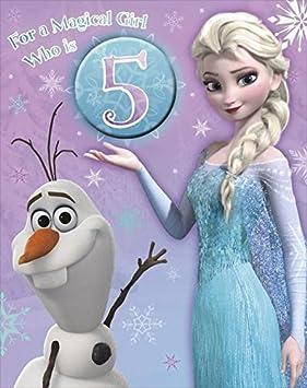 Frozen age 5 olaf elsa large 5th birthday card and badge amazon frozen age 5 olaf elsa large 5th birthday card and badge bookmarktalkfo Image collections