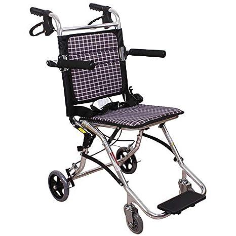 Silla de ruedas Rampas Personas Mayores portátil Plegable Viaje Ultraligera portátil para discapacitados Puede Estar en el: Amazon.es: Hogar