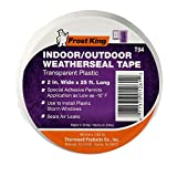 Frost King T94H Plastic Weather-Seal Tape 2-Inch by 25-Feet, Clear, 2'' X ft