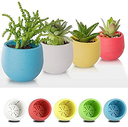 office flower pots. Sellify White, 7X65mm Plastic Flower Pot Succulent Plant Flowerpot For Home Office Decoration 5 Color Pots