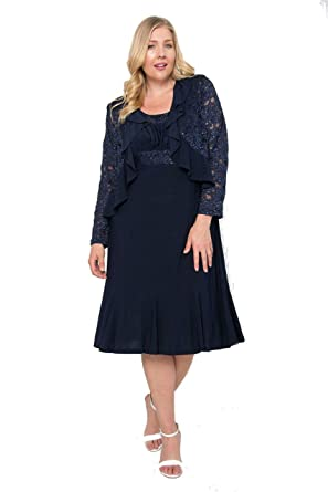 63c3117ba40 R M Richards 2 Piece Short Mother of The Bride Dress at Amazon Women s  Clothing store