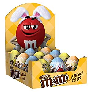 M&M'S Easter Milk Chocolate Candy in Easter Eggs 0.93 Ounce (12 Count) Box