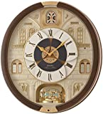 Seiko Melodies in Motion Plastic Wall Clock (44.3 cm x 40.5 cm x 9.7 cm, Dark Brown)