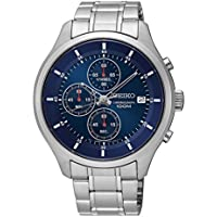 Seiko Men's Stainless Steel Chronograph Watch (Blue Or White)