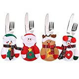 FEFEHOME Christmas Dinner Flatware Holder Santa Decoration (A)
