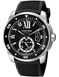 Mens W7100056 Analog Display Swiss Automatic Black Watch. Cartier
