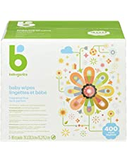 Babyganics Unscented Baby Wipes, Plant-Derived and Non-Allergenic Wipes Perfect for Faces, Hands, and Baby's Body, Fragrance and Dye Free, 400 Wipes