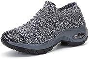 Wofengsun Women's Walking Shoes - Sock Sneakers Slip on Mesh Platform Air Cushion Athletic Shoes Work Nurs