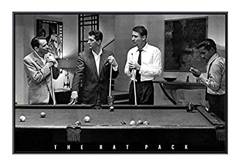 Amazoncom 34 X 22 Frank Sinatra And The Rat Pack Playing Pool