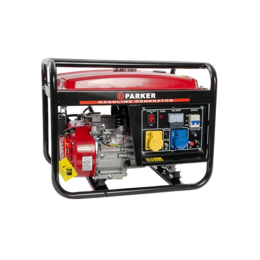 2.8 KVA / 2.8KW 6.5HP DC Petrol Generator - 110V / 240V / 12V / 50HZ Parker