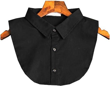 Black Temptation Clásico Camisa Blanca Escote Medio Camisa Falso Collar Cuello Falso de Moda, Negro: Amazon.es: Deportes y aire libre