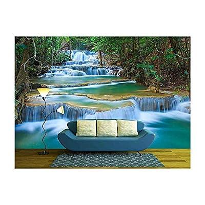 Premium Creation, Beautiful Expert Craftsmanship, Deep Forest Waterfall in Kanchanaburi Thailand