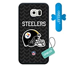 Samsung Galaxy S6 Case, Customized NFL Pittsburgh Steelers Logo Black Soft Rubber TPU Samsung Galaxy S6 Case, Pittsburgh Steelers Logo Galaxy S6 Case(Not Fit for Galaxy S6 Edge)