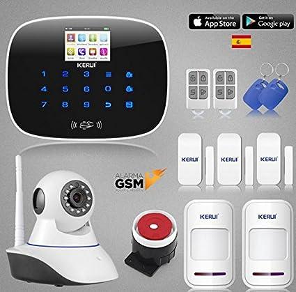 Kit Alarma KERUI GSM G19 con camara de seguridad para hogar ...