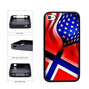 Norway and USA Mixed Flag TPU RUBBER SILICONE Phone Case Back Cover Apple iPhone 6 plus 5.5 includes diy case Cloth and Warranty Label