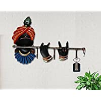 Karigaari India Beautifully Designed Wrought Iron Key Holder/Key Chain Holders/Key Hooks/Key Hangers