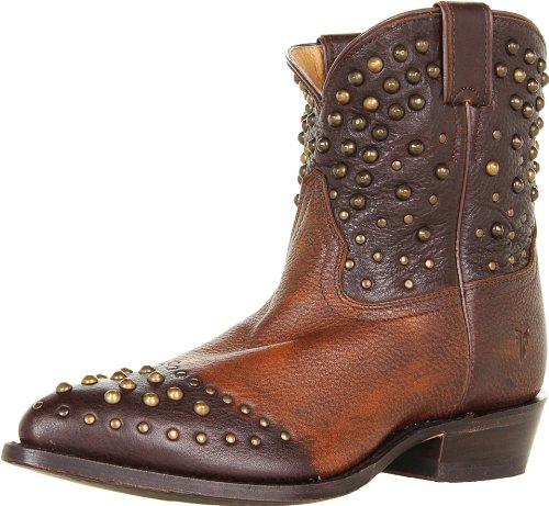 FRYE Women's Billy Studded Short Boot, Maple Calf Shine Vintage, 7 M US