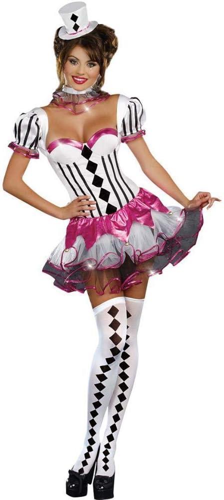 WWAVE Disfraz de Payaso de Circo Sexy de Halloween para Mujer ...
