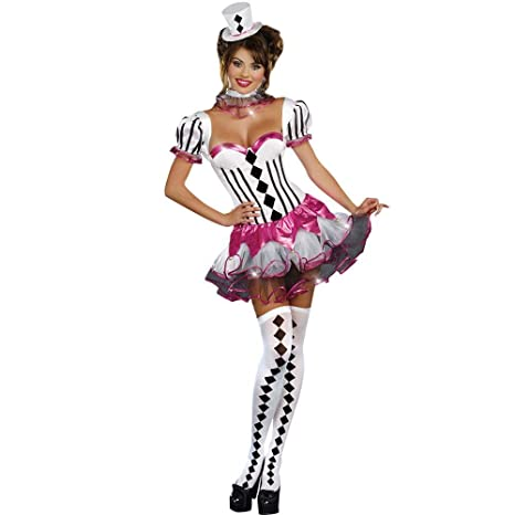 WWAVE Disfraz de Payaso de Circo Sexy de Halloween para ...
