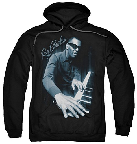 Hoodie: Ray Charles - Blues Piano Pullover Hoodie Size XL