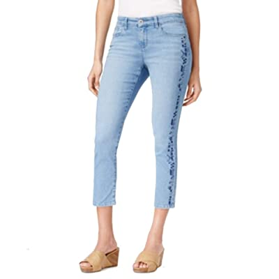 Style & Co. Petite Embroidered Capri Jeans (Divine, 12P) at Women's Jeans store