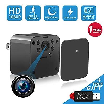 1080P Spy Camera, Hidden Camera, Mini Camera, USB Charger Camera, Night Vision Camera, Surveillance Camera, Hidden Nanny Cam, Hidden Spy Cam Motion Detection Loop Recording from F.Dorla