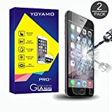 iPhone 6S Plus Screen Protector, Yoyamo 2 PACK 0.26mm 9H Tempered Glass Screen Protector for Apple iPhone 6S Plus /6 Plus 5.5 Inch