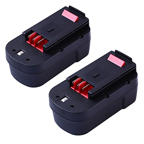 GERIT BATT 3.6Ah Replace Black and Decker 18V Battery HPB18 HPB18-OPE 244760-00 FS18FL FSB18 Firestorm Power Tool 2-pack