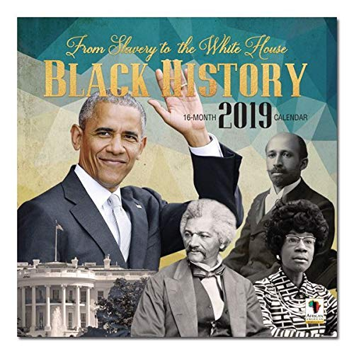 "Office Products : African American Expressions - 2019 Black History 12 Month Calendar (12"" x 12"") WC-177"