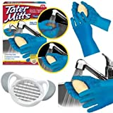 Tater Mitts quick Peeling Potato Gloves with Bonus Slicer