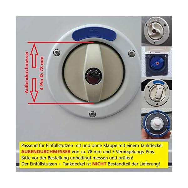 51gt1ORcVML Wassertankdeckel Adapter mit Anschluss für Gardena System für Wohnmobil, Caravan, Boot mit Überlauffunktion und…