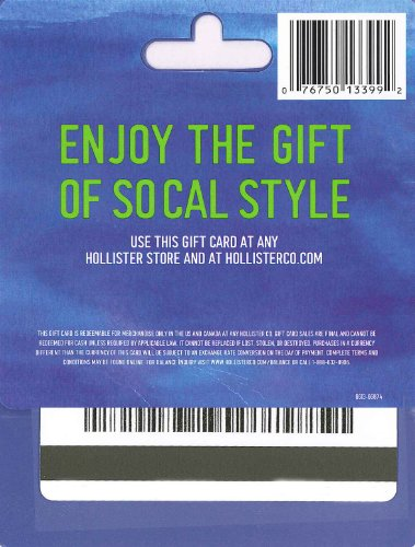 Amazon.com: Hollister Gift Card $25: Gift Cards