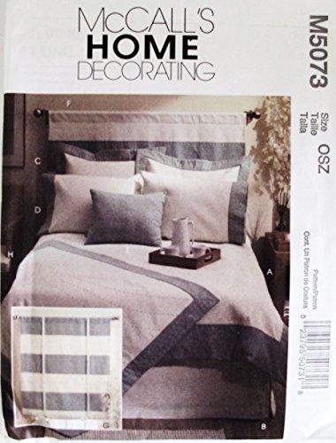 MCCALLS M5073 BEDROOM ESSENTIALS: DUVET COVER, BEDSKIRT, SHAM, HEADBOARD, PILLOW (SEWING PATTERN) (Bedskirt Pattern)