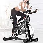Drohneks-Spin-Bike-Cyclette-Indoor-Studio-Cyclette-Allenamento-Cardio-Manubrio-Regolabile-Sedile-capacita-Massima-di-carico-100-kg-Monitoraggio-Intelligente-App