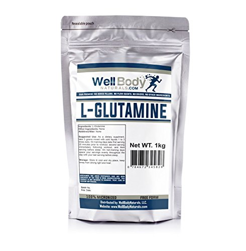 WellBodyNaturals Pure L-Glutamine Powder (1000 grams)