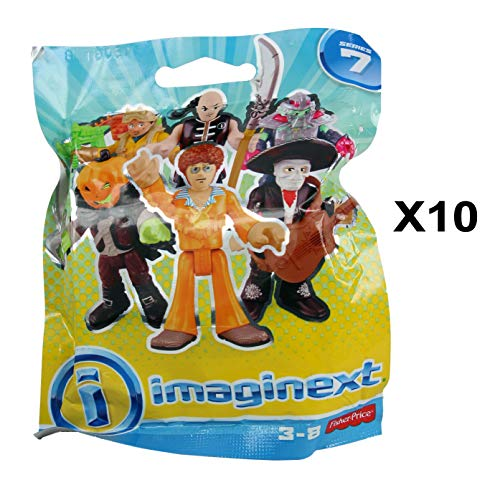 Fisher Price - Imaginext Series 7 Mystery Figure with Accessory Blind Bag Party Favour Foil Bag - 10 Pack