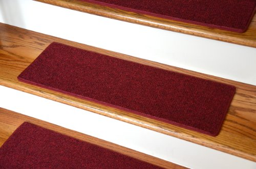 Diy Red Carpet Runner (Dean Non-Slip Tape Free Pet Friendly DIY Carpet Stair Treads/Rugs 27