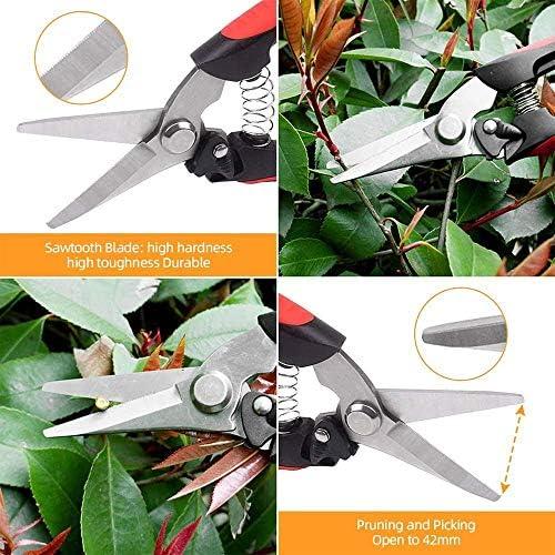 1yess 3 Pack Pruning Shears Secateurs Safety Lock Gardening Hand Pruning Tool Less Effort Ergonomic Comfort Bypass Garden Shears Tool Precise Cuts