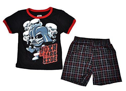 Disney Toddler Star Wars Tee and Shorts Set (Black, 3T)