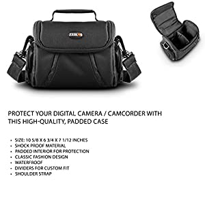 Accessories Kit For Sony Cyber-shot DSCH300/B, HX400V/B, DSC-HX300 Digital Camera Includes Deluxe Carrying Case + 50 Tripod With Case + Micro HDMI Cable + LCD Screen Protectors + Mini Tripod + More from Butterfly