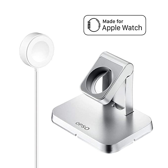 OPSO [Apple MFi Certificado] Cargador para Apple Watch,Magnetic Charging Dock,soporte para Apple Watch/iWatch 1/2/3/4 38mm,40mm,42mm,44mm con cable de ...