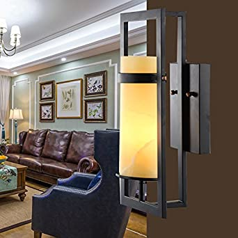 Larsure Vintage Industrial Style Wandleuchte Wandleuchte Lampe Stein Wand  Lampen Retro LED Licht Eisen Wandleuchte